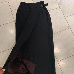 Banana republic long black skirt nwot